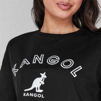 Kangol Logo Boxy T Shirt Ladies